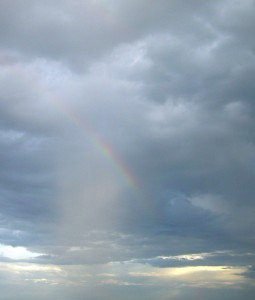 Rain... and a Rainbow