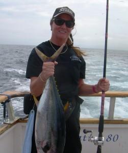My first fish of the trip, yellowfin tuna.