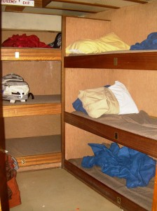Nine person stateroom in the bow