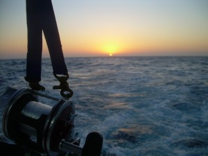 Trolling at sunrise on the Electra