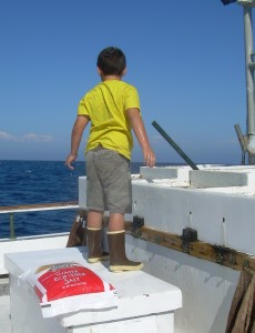 Deckhand in training