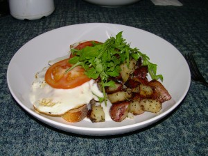 Hearty breakfast to start the day