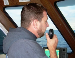 Own and Captain Mark Gillette at the helm