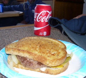 Patty melt and a Coke